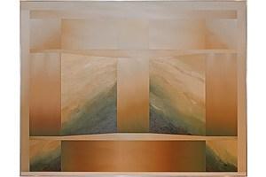 David Voigt (born 1944), Northern Flow 1982, Oil on Canvas