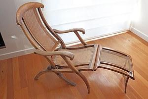 19th Century Fruitwood Metamorphic Steamer Chair