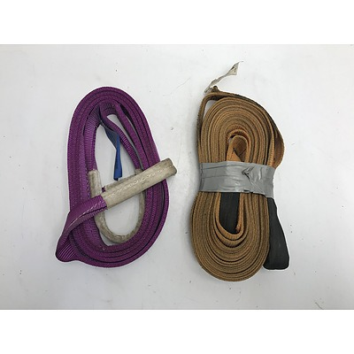 Winch Extension/Tow Straps -Lot f Two