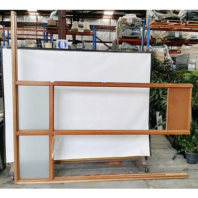 Two Hardwood Window Frames