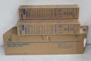 Konica Minolta Toner Cartridges and Imaging Unit - Lot of Four