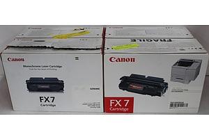 Canon FX7 Monochrome Laser Cartridges - Lot of Four