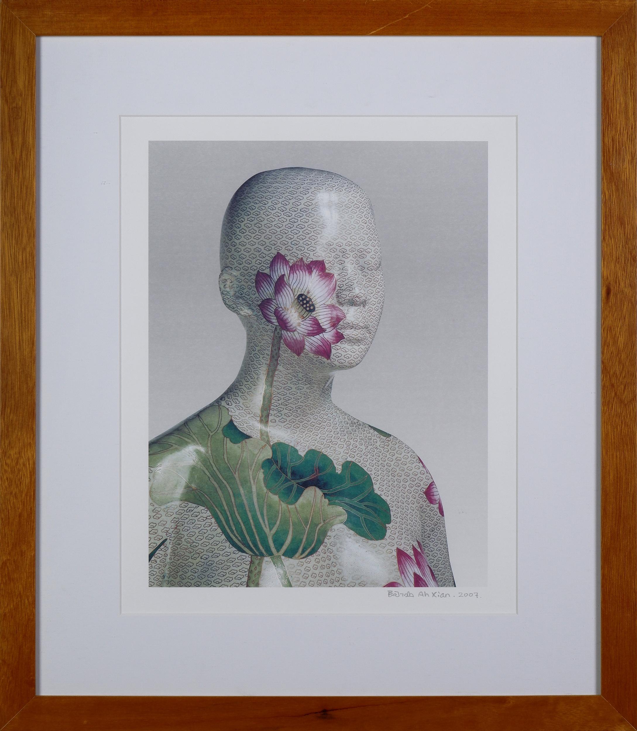 'Ah Xian (born 1960), Head 3 2007, Lithographic Print'
