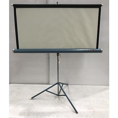 Lot of Assorted Homewares and Vintage Projector Screen