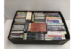 Box of Assorted CDs and DVDs