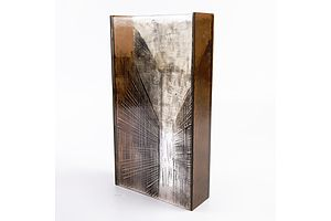 Ruth Oliphant Studio Glass 'Untitled 3 - Alleyway Series' 2008 - Fused and Carved Glass