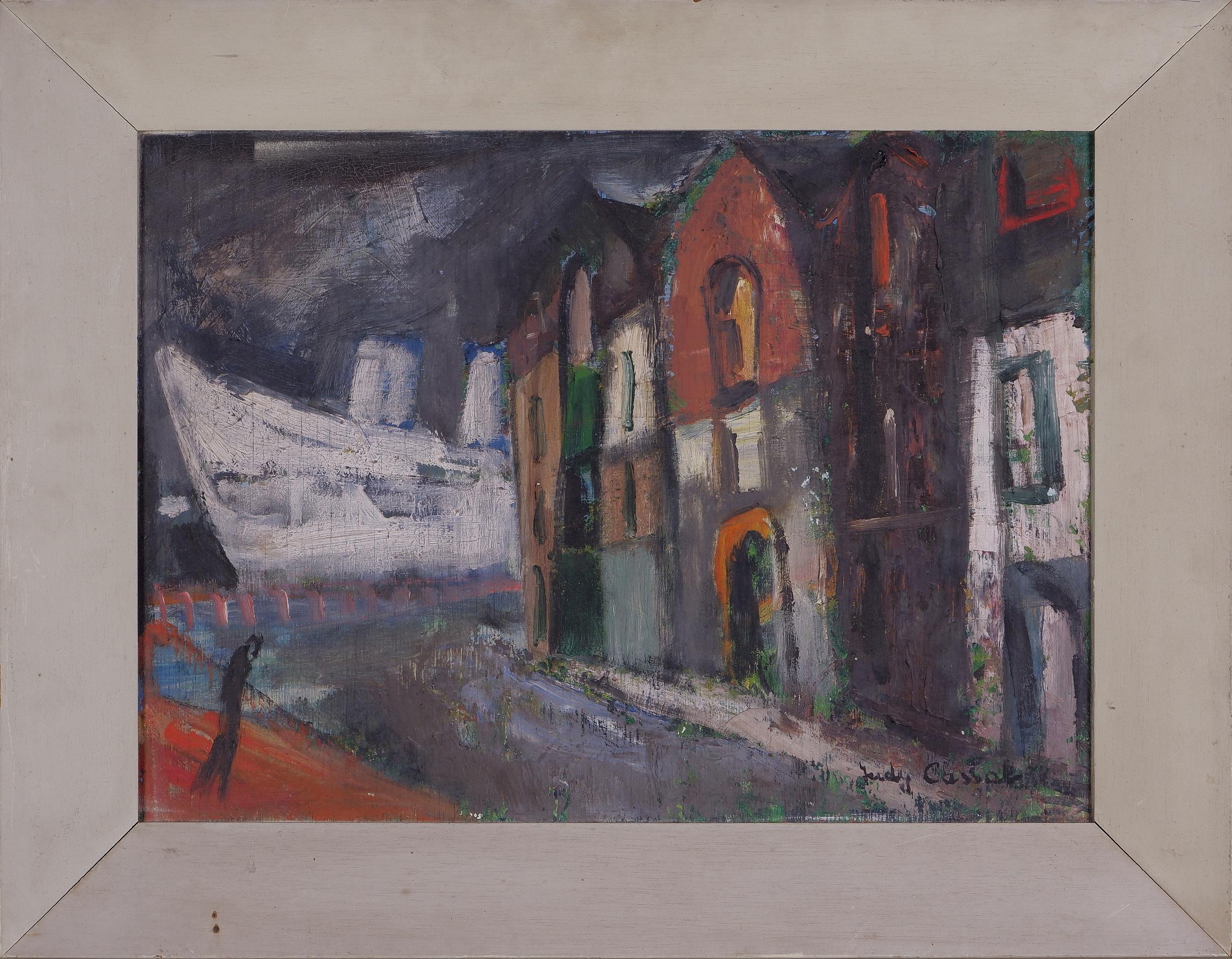 'Judy Cassab (1920-2015), Woolloomooloo, Oil on Board'