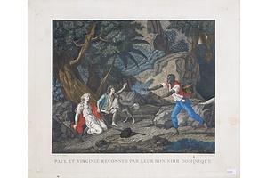 Charles-Melchior Descourtis (1753-1820) after Frederic-Jean Schall (1752-1825) Aquatint Engraving, Circa 1795-1797