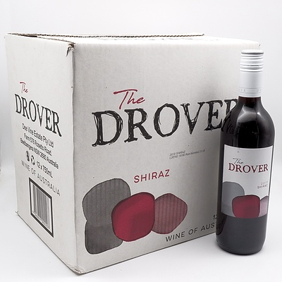 Case of 12x The Drover 2019 Shiraz 750ml