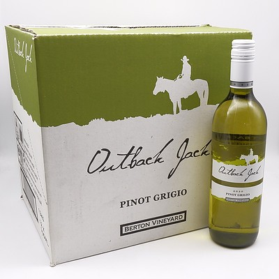 Case of 12x Outback Jack 2020 Pinot Grigio 750ml