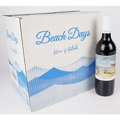 Case of 12x Beach Days 2019 Cabernet Merlot 750ml