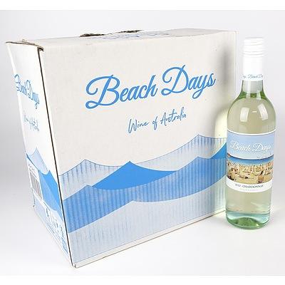 Case of 12x Beach Days 2020 Chardonnay 750ml