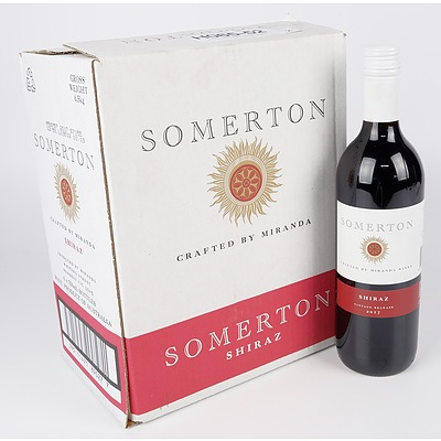Case of 6x Somerton 2017 Shiraz 750ml
