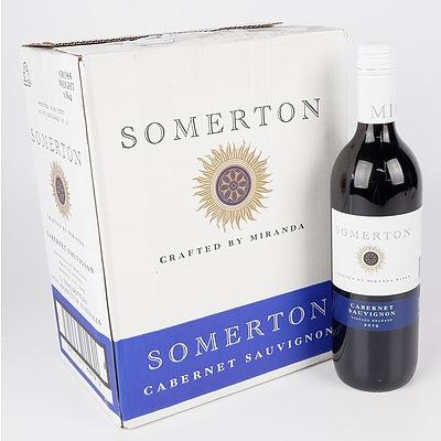 Case of 6x Somerton 2019 Cabernet Sauvignon 750ml