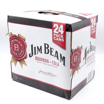 Case of 24x Jim Beam Bourbon & Cola Cans 375ml