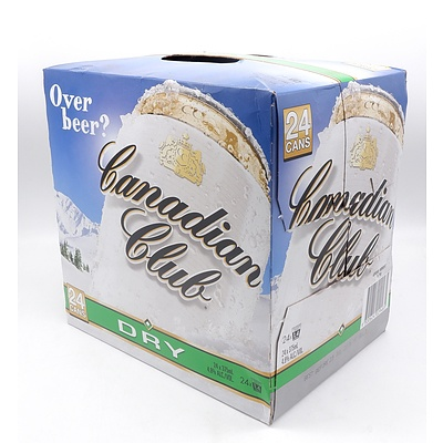 Canadian Club Dry Case of 24x 375ml Cans