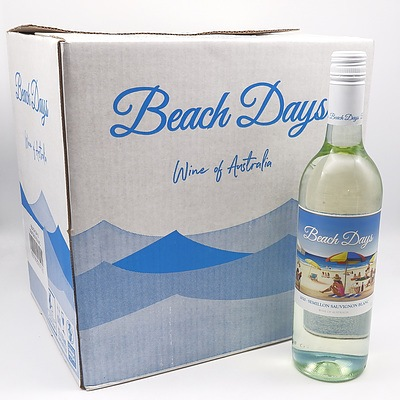 Beach Days 2020 Semillion Sauvignon Blanc 750ml Case of 12