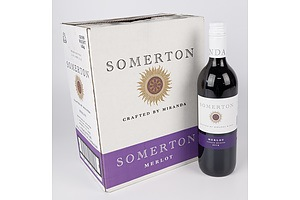 Case of 6x Somerton 2019 Merlot 750ml