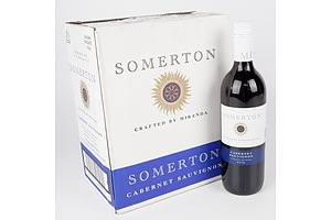 Case of 6x Somerton 2019 Cabernet Sauvignon 750ml