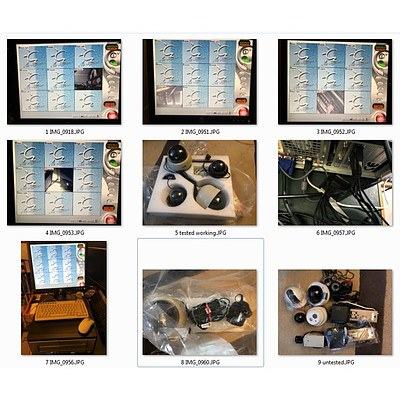 The 3rd Eye CCTV DVR Security System With PC Cameras and Accessories