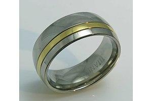 Titanium & 18ct Gold Plated Ring