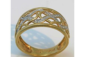 9ct Two-Tone Gold Ring