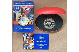 Australia 2004 $5 Proof Coin AFL Football