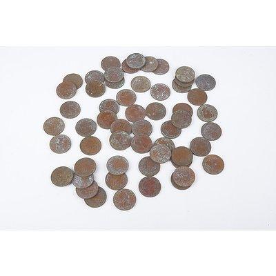 Quantity of Australian Half Pennies
