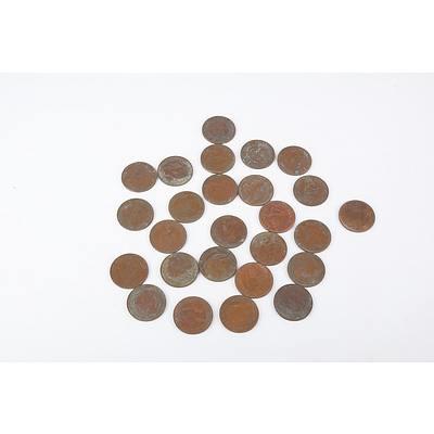 Quantity of Australian Pennies