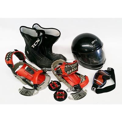 Lot of Snowboarding Gear
