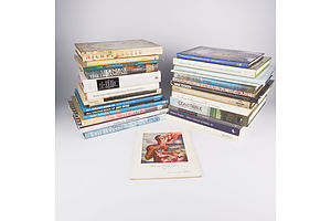 Quantity of Approximately 30 Australian Art  Related Books Including Aldo Iacobelli by John Neylon, Pre Raphelite Masterpieces by Gordon Kerr and More