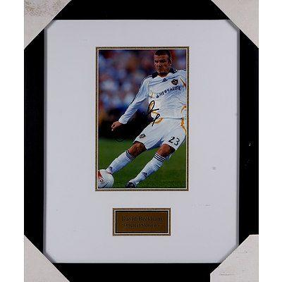 Signed and Framed David Beckham Photograph