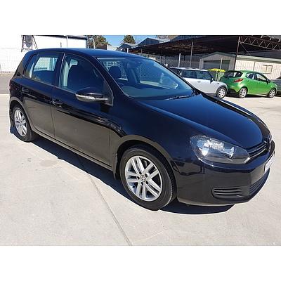 6/2010 Volkswagen Golf 118 TSI Comfortline 1K MY10 5d Hatchback Black 1.4L