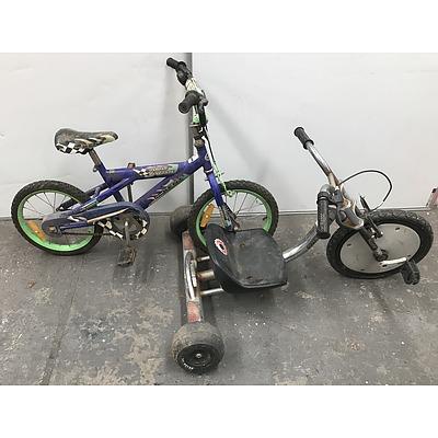 Razor Trike and Kent Kids Bike