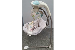 Fisher Price My Little Lamb Cradle n Swing and Laugh N Learn Puppy Walker