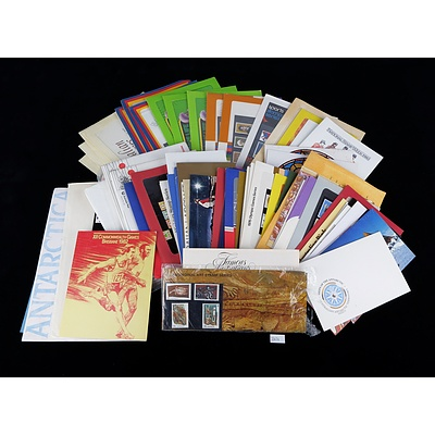 Large Collection of Australian and International Stamp Packs, Including British Commonwealth Games 1974