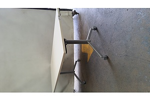 White Folding Table On Wheels