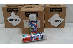 White Knight Glass Frosting Spray Paint 150 grams - 24 Cans - New