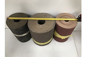 Abrasive Paper Rolls -Lot Of Three