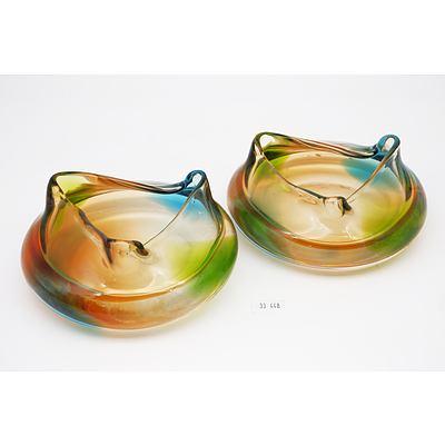 Pair of Mid century Murano Glass Bowls