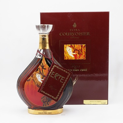 Rare Boxed Erte Edition No 1 Extra Courvoisier Cognac 700ml