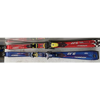 Sets Of Atomic Skis- Lot Of Two