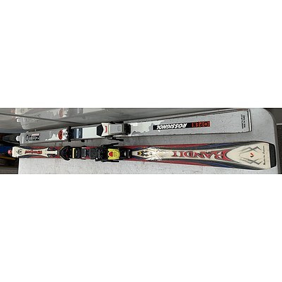 Sets Of Rossignol skis- Lot Of Two