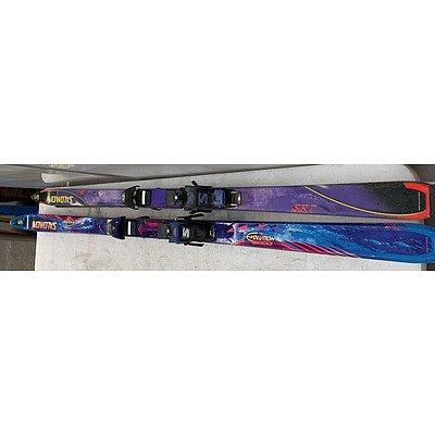 Set Of Salomon Skis- Lot Of Two