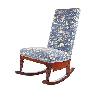 Victoria Mahogany Rocking Chair, Mid to Late 19th Century