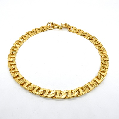 22ct Yellow Gold Bracelet, 17.5g