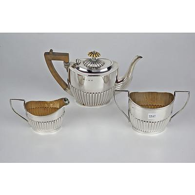 Sterling Silver Batchelor's Tea Service, Birmingham 1904, 430g