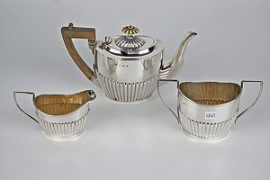 Sterling Silver Batchelor's Tea Service, Birmingham 1904, 430g