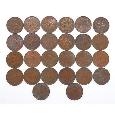 Group of Australian Pennies