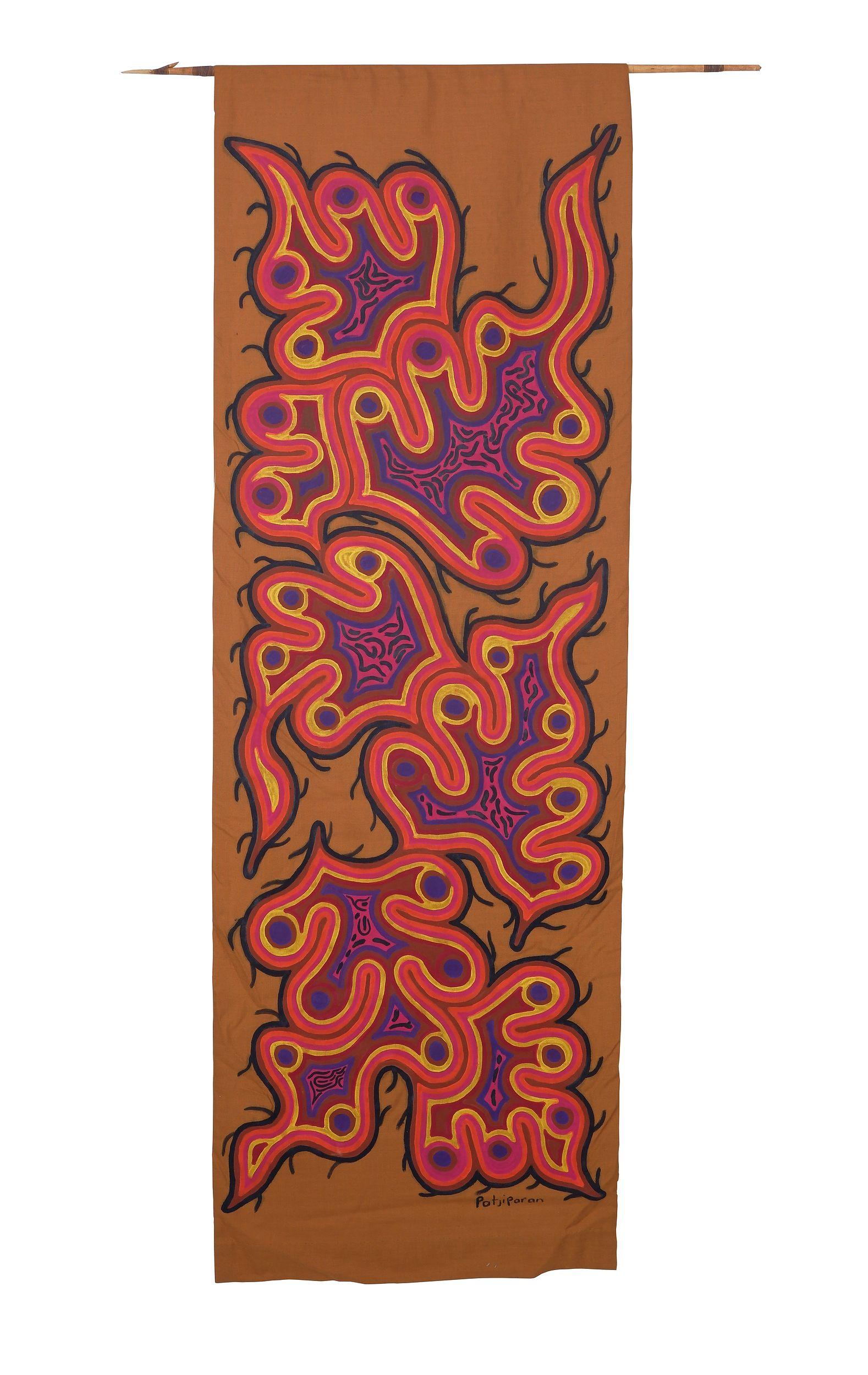 'Patjiparan Daisy Wikilyiri (c1935-1985, Pitjantjatjara language group), Untitled, Acrylic on Linen '